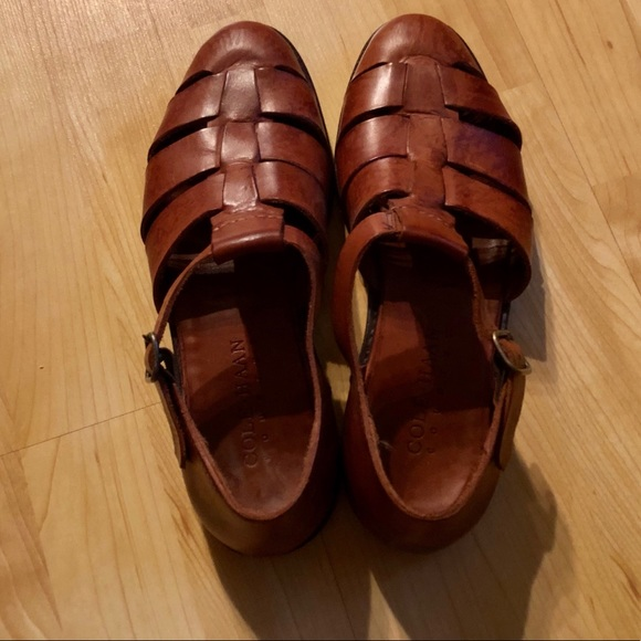 Mens Cole Haan Leather Sandals